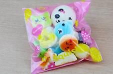 10pcs Pack Squishies Simulation Toys Donut/Bread/Panda Squishies Phone Straps