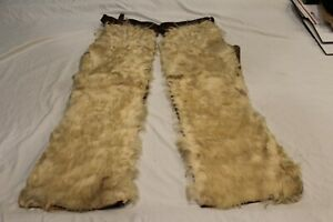 Early Wooly Cowboy Chaps Western Americana Wyoming