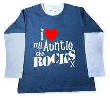 Camisetas y tops de niña de 2 a 16 años de manga larga color principal azul 100% algodón