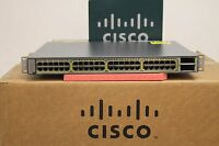 CISCO WS-C3750E-48PD-SF 48 Port Gigabit Layer 3 POE Switch 10Gbps Uplinks 3750E