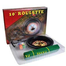 More details for boxed roulette set - wheel, felt, rake,balls + 60 numbered chips poker chip shop