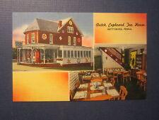Old Vintage 1940's - Dutch Cupboard TEA HOUSE - Postcard - GETTYSBURG PA.