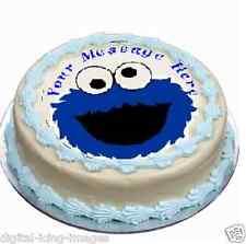 Cookie Monster sesame stre Cake topper edible digital image icing  REAL FONDANT