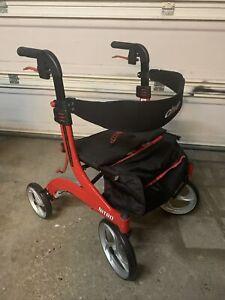 Drive Medical RTL10266 NITRO Euro Style Rollator Walker - Red