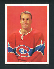 1963-65 CHEX CEREAL HOCKEY PHOTO HENRI RICHARD MONTREAL CANADIENS RARE series 2