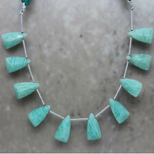 Amazonite Faceted Triangle Briolette 8mm x 14mm Semi-Precious Gemstone