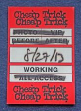 Orig. 2013 Cheap Trick Englewood, New Jersey Concert Working Pass