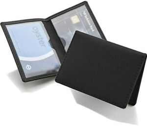 REAL LEATHER Travel Card Holder Wallet Bus Pass Oyster ID Ticket Slim