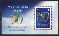 Cayman Islands 2018 MNH Cayman Airways 50th Anniv 1v M/S Aviation Stamps