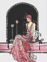 ART DECO LADY - COUNTED X-STITCH CHART