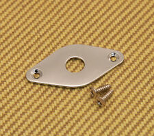 PFJP-C Pointed Chrome Football Jack Plate For Guitar & Bass