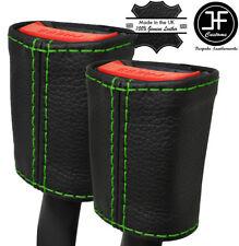 Cuciture verdi 2X Sedile Anteriore Cintura in pelle copre si adatta MERCEDES CLASSE A W176 12-16