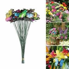 50Pcs Butterfly Stake Patio Lawn Yard Art Planter Flower Pot Garden Decoration