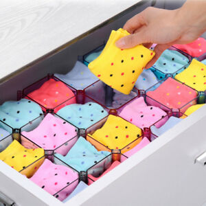 6pcs Honeycomb Box Drawer Organizer Cosmetic Case Stationery Underwear Storage