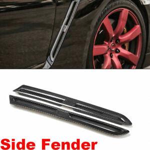 Carbon Fiber Front Fender Wing Side Vents Hood Cover Set for Nissan GT-R 09-15