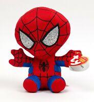 "NWT TY Beanie Babies 6"" SPIDER-MAN Spiderman Marvel Plush Stuffed Animal Toy"