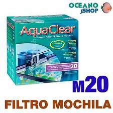 Aquaclear filtro mochila 20 gran calidad acuario pecera exterior cascada