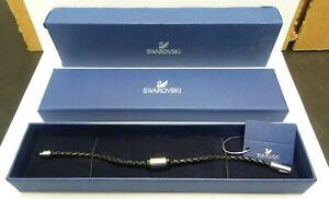 Swarovski 1085178 - Nano Crown Bracelet Leather S - Black - A12