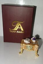 Taylor Avedon Collectible table trinket box authentic new + box $140