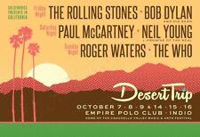 DESERT TRIP - Stones / McCartney / Dylan / Who - Empire Polo Club  - Oct 2016