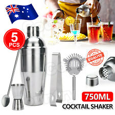 Cocktail Shaker Set Maker Mixer Martini Spirits Bar Strainer Bartender Kit Tool