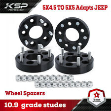 "4 WHEEL ADAPTERS 5X4.5 TO 5X5 1.25"" ADAPTS JEEP CJ WHEELS ON TJ MJ YJ KK SJ XJ"