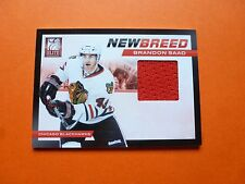 Brandon Saad RC, 2011-12 Panini Elite, New Breed Player-Worn Material/Jersey