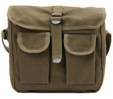 OD Green Military Style Ammo Bag 2 Pocket Messenger Bag Shoulder Bag Rothco 2277