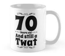 70th Birthday 70 small gift idea funny mug mugs cup card alternative Born 1948