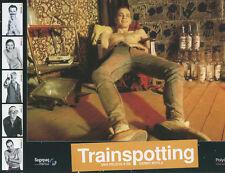Trainspotting original 14x9 Italian lobby card Ewan McGregory in chair barechest