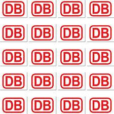 20 etiqueta 2cm Rojo DB Alemán Tren Personajes MODELISMO MINI pegatina Rc deco