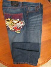 ED HARDY Angry Tiger Jeans Men's Size 38 X 33