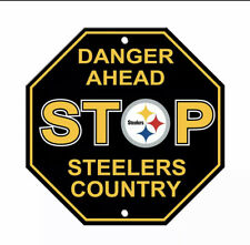 """Pittsburgh Steelers Stop Sign """"Steelers Country"""" NEW! 12""""X12"""" Man Cave NFL"""