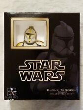 GENTLE GIANT STAR WARS AOTC YELLOW CLONE TROOPER COMMANDER MINI BUST BRAND NEW!
