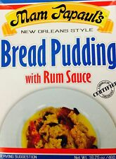 Mam Papaul's Bread Pudding with Rum Sauce, 16.25oz (3 Pack)