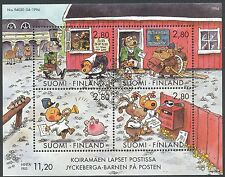 Finland 1994 Used Sheet - Dog Hill Kids Cartoon by Mauri Kunnas - Scott 946