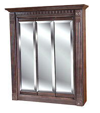 30 x30 Cherry Stained Medicine Cabinet  with mirrors