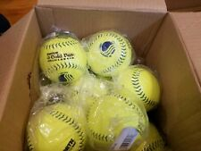 "15 New Worth Super Gold Dot Classic M 12"" Inch Slow-Pitch Softballs.15 pack"