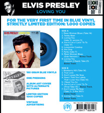 Elvis Presley - Loving You - BLUE Vinyl LP - LIMITED EDITION - New & Sealed