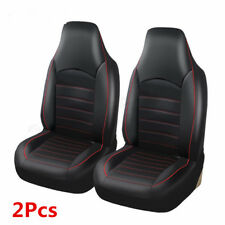 2x Universal Black PU Leather Car Front Seat Covers Cushion Seat Protect Pad Mat