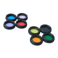 "8pcs/set 1.25"" Filter Kit Nebula &Moon &Sun Filter For Telescope Eyepiece New"