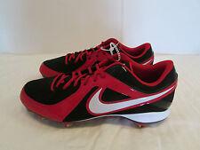 Nike Men MVP Strike Low Metal Baseball Cleats Size 13 Red / Black 535841 016