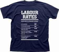 Labour Rates Mens funny gift mechanic electrician plumber builder tshirt 9222