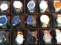 Neu Großhandel Menge 10 Sortierte Quarz Herren Armbanduhren
