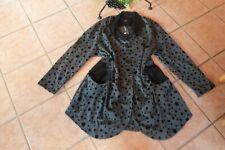 MEXXOO Jacke Mantel 46 48 NEU! grau schwarz Dots Raff-Taschen Stretch LAGENLOOK