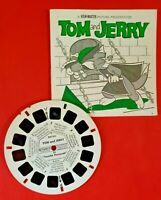 """1956 View-Master Tom & Jerry in """"Touche' Pussycat"""" Reel One B 5111 & Booklet NM+"""