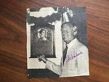 Al Kaline Detroit Tigers  Autographed Hall of Fame NEWS PAPER AD RARE