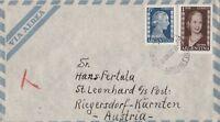 Via Aera verschickt von Buenos Aires nach Riegersdorf Umschlag Jahr 1953