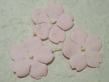 50 x PINK 30mm mulberry paper FLOWERS MPFF35 Card Scrapbooking Embellishment