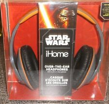 STAR WARS THE FORCE AWAKENS IHOME OVER THE EAR HEADPHONES NEW MICROPHONE MOVIE